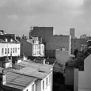 A view along the roof tops of Paris France. 28th February 2011. Photo Tim Clayton