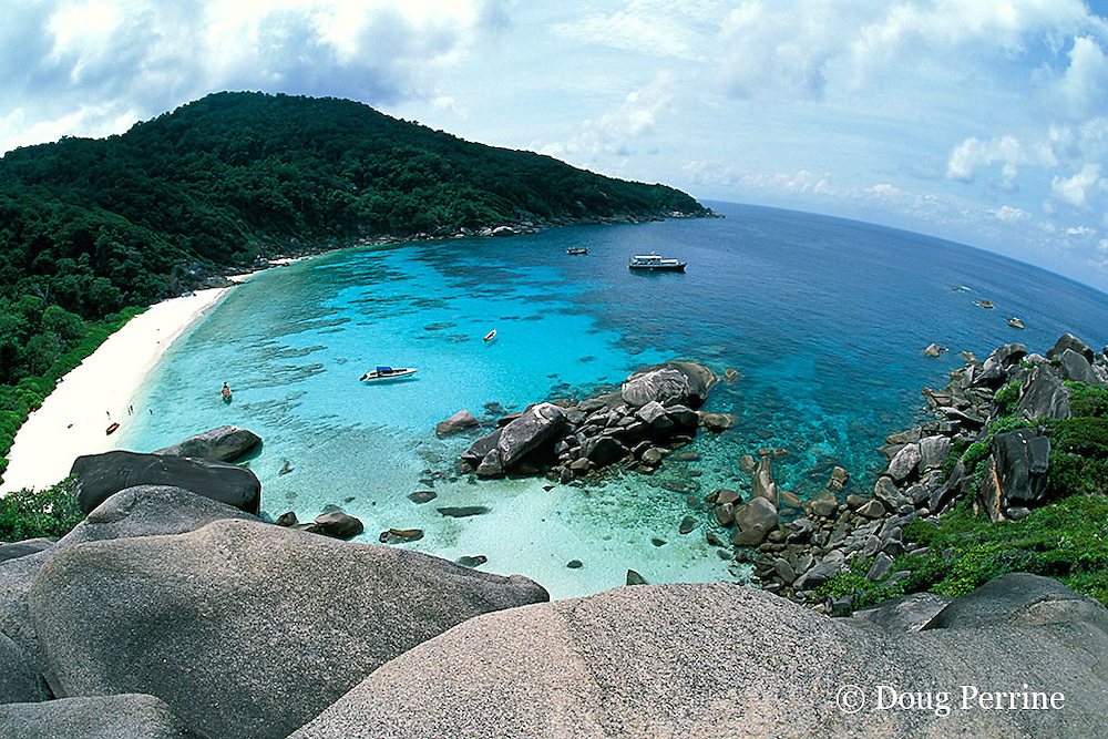 Shoe Bay, or Donald Duck Bay, Similan Islands, Thailand ( Andaman Sea, Indian Ocean )