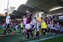Players of both teams entering the pitch before football match between NŠ Mura and Nk Triglav in 14th Round of Prva liga Telekom Slovenije 2019/20, on October 19, 2019 in Fazanerija, ;urska Sobota, Slovenia. Photo by Blaž Weindorfer / Sportida