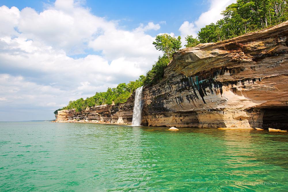 Spray Falls, Pictured Rocks National Lakeshore, summer, upper peninsula, michigan, lake superior, waterfalls, great lakes,