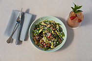 The strawberry and zucchini salad at Tusk, a Middle Eastern Restaurant in Portland, OR