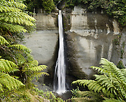 "Mount Damper Falls, 78 metres high (North Island's highest), is located on the Stratford to Taumarunui ""Forgotten World Highway"", New Zealand."