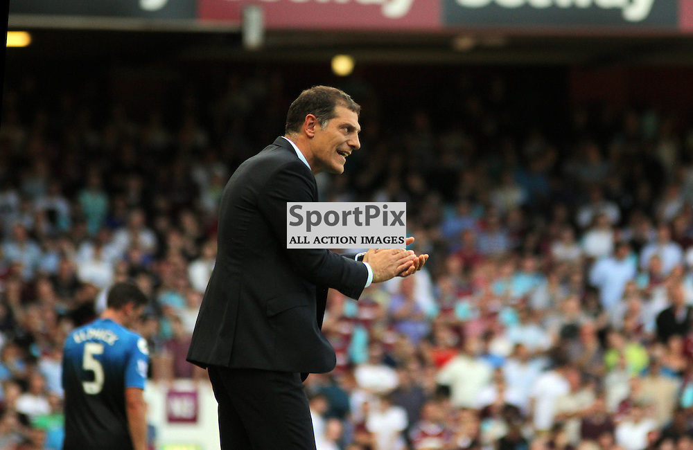 Slaven Bilic encourages his team During West Ham United vs Bournemouth FC on Saturday the 22nd August 2015