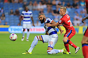 Sandro, Jamie Allen during the EFL Cup match between Queens Park Rangers and Rochdale at the Loftus Road Stadium, London, England on 23 August 2016. Photo by Daniel Youngs.