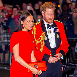 Prince Harry and Meghan, Duke and Duchess of Sussex attend The Mountbatten Festival of Music at the Royal Albert Hall in London. 07 Mar 2020 Pictured: Prince Harry and Meghan, Duke and Duchess of Sussex. Photo credit: MEGA TheMegaAgency.com +1 888 505 6342