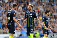 BRIGHTON, ENGLAND - MAY 12: Kyle Walker (2) of Manchester City  during the Premier League match between Brighton & Hove Albion and Manchester City at American Express Community Stadium on May 12, 2019 in Brighton, United Kingdom. (MB Media)