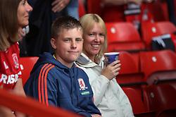 General view of Middlesbrough fans - Mandatory byline: Jack Phillips / JMP - 07966386802 - 19/9/2015 - FOOTBALL - The City Ground - Nottingham, Nottinghamshire - Nottingham Forest v Middlesbrough - Sky Bet Championship
