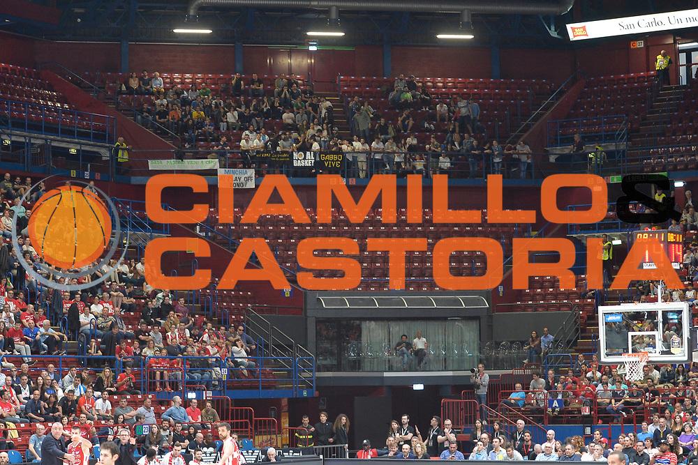 Pubblica<br /> Olimpia EA7 Emporio Armani Milano vs Vanoli Cremona<br /> Lega Basket Serie A 2016/2017<br /> PlayOff semifinale gara 2<br /> Milano 14/05/2017<br /> Foto Ciamillo-Castoria / I.Mancini
