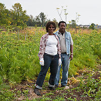 The farmers and visitors at FarmStart's McVean Incubator Farm Grand Opening on Sunday September 27, 2009.