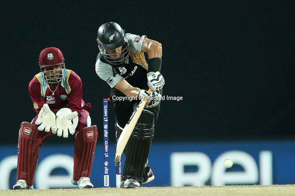 Ross Taylor (Captain) during the ICC World Twenty20 Super Eights match between The West Indies and New Zealand held at the  Pallekele Stadium in Kandy, Sri Lanka on the 1st October 2012<br /> <br /> Photo by Ron Gaunt/SPORTZPICS/PHOTOSPORT