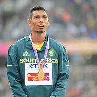 Wayde Van Niekerk wins gold in the 400m at the 2017 IAAF world athletics championships at the London Stadium