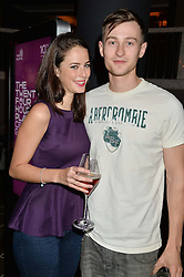 KAYA SCODELARIO and ELLIOTT TITTENSOR at the Old Vic 24 Hour Plays Celebrity Gala held at the Rosewood Hotel, 252 High Holborn, London on 24th November 2013.