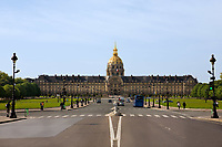 les invalidesmuseum where napoleon tomb is in the beautiful city of paris france