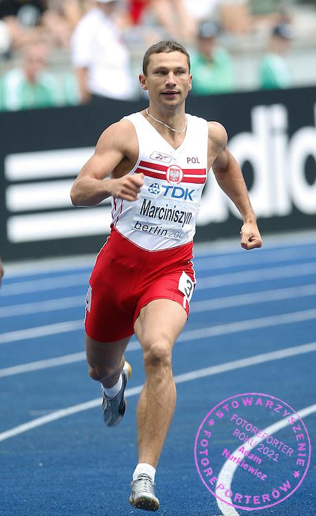 BERLIN 18/08/2009.12th IAAF World Championships in Athletics Berlin 2009.400 Metres Men.Marcin Marciniszyn of Poland ..Phot: Piotr Hawalej / WROFOTO