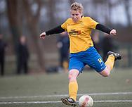 FODBOLD: Nina Druedal (Ølstykke FC) scorer til 1-0 under kampen i Sjællandsserien mellem Ølstykke FC og Herlufsholm GF den 12. april 2018 på Ølstykke Stadion (kunstgræs). Foto: Claus Birch.