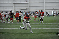 Ole Miss' Laquon Treadwell (1) catches a pass at football practice at the Manning Center, in Oxford, Miss. on Monday, August 18, 2014.