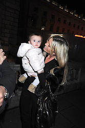 Actress TINA HOBLEY and her daughter OLIVIA at the opening of the Somerset House ice Rink for 2008 sponsored by Tiffany & Co held at Somerset House, The Strand, London on 18th November 2008.