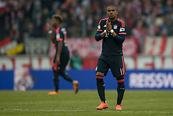 19.03.2016, Rhein Energie Stadion, Koeln, GER, 1. FBL, 1. FC Koeln vs FC Bayern Muenchen, 27. Runde, im Bild Douglas Costa (FC Bayern Muenchen #11) // during the German Bundesliga 27th round match between 1. FC Cologne and FC Bayern Munich at the Rhein Energie Stadion in Koeln, Germany on 2016/03/19. EXPA Pictures © 2016, PhotoCredit: EXPA/ Eibner-Pressefoto/ Schüler<br /> <br /> *****ATTENTION - OUT of GER*****