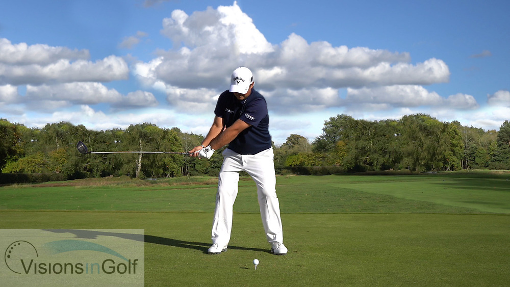 Patrick Reeed<br /> Face on swing sequence high speed with driver<br /> July 2107