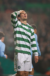 GLASGOW, SCOTLAND - Monday, November 7, 2011: Glasgow Celtic's Tony Watt looks dejected after missing a chance against Manchester City during the NextGen Series Group 1 match at Celtic Park. (Pic by David Rawcliffe/Propaganda)