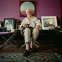 Artist Robert Indiana photographed in his studio on Vinalhaven, Maine.