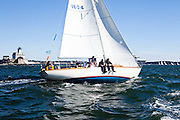 Sea Robin sailing in the Museum of Yachting Classic Yacht Regatta.