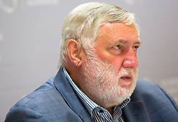 19.08.2015, Kongress, Alpbach, AUT, Forum Alpbach, Eröffnungspressekonfernferenz, im Bild Franz Fischler (Präsident des Europäischen Forums Alpbach) // during the opening press conference of European Forum Alpbach at the Congress in Alpach, Austria on 2015/08/19. EXPA Pictures © 2014, PhotoCredit: EXPA/ Jakob Gruber