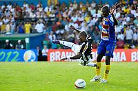 20120202: Rio de Janeiro, BRAZIL - Player Rodrigo and Maicosuel during match between Madureira vs Botafogo for Campeonato Carioca held at Conselheiro Galvao, RJ, Brasil <br /> PHOTO: CITYFILES