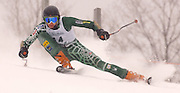 Traverse City West's Ryan Ness on his second of two giant slalom runs during the 2010 Division I MHSAA State Ski Finals.