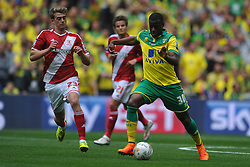 Sebastian Bassong, Norwich, Middlesbrough v Norwich, Sky Bet Championship, Play Off Final, Wembley Stadium, Monday  25th May 2015