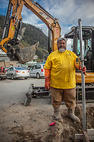"Tonga born construction contractor Robert Uasike moved to Juneau  from Arizona.  ""I prefer the weather here."""