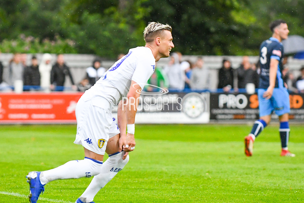 Leeds United Ezgjan Alioski (10) reacts during the Pre-Season Friendly match between Tadcaster Albion and Leeds United at i2i Stadium, Tadcaster, United Kingdom on 17 July 2019.