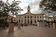 View of the Alcaldia in Plaza Colon, Mayaguez Puerto Rico