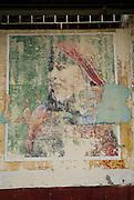 Pintura de mujer indígena en la fachada de una casa en el casco viejo de la ciudad de PanamaFoto: Ramon Lepage / Istmophoto.