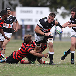 JJ van der Mescht of the Cell C Sharks General views during the SA Rugby U19's Championship match between the Cell C Sharks and the EP Elephants Under-19 at Jonsson Kings Park Stadium,Durban.South Africa.1st September 2018,(Photo by Steve Haag)