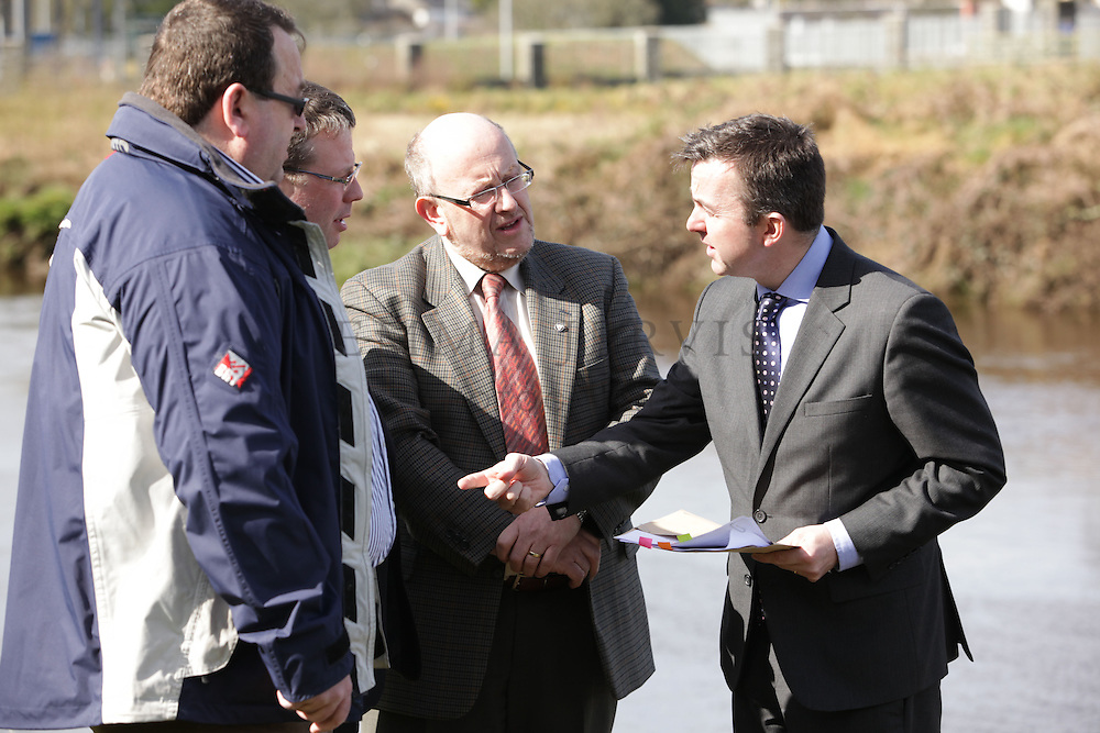 XXjob 11/042013 NEWS.Pictured at the launch of the River Ilen Skibbereen Drainage Scheme Public exhibition at Skibbereen Town Council offices were (L-R) Cllr. Brendan Leahy, Noel Harrington TD, Cllr. Adrian Healy & Minister of State Brian Hayes T.D. in Skibbereen on Thursday 11th April 2013..PIcture: EJP