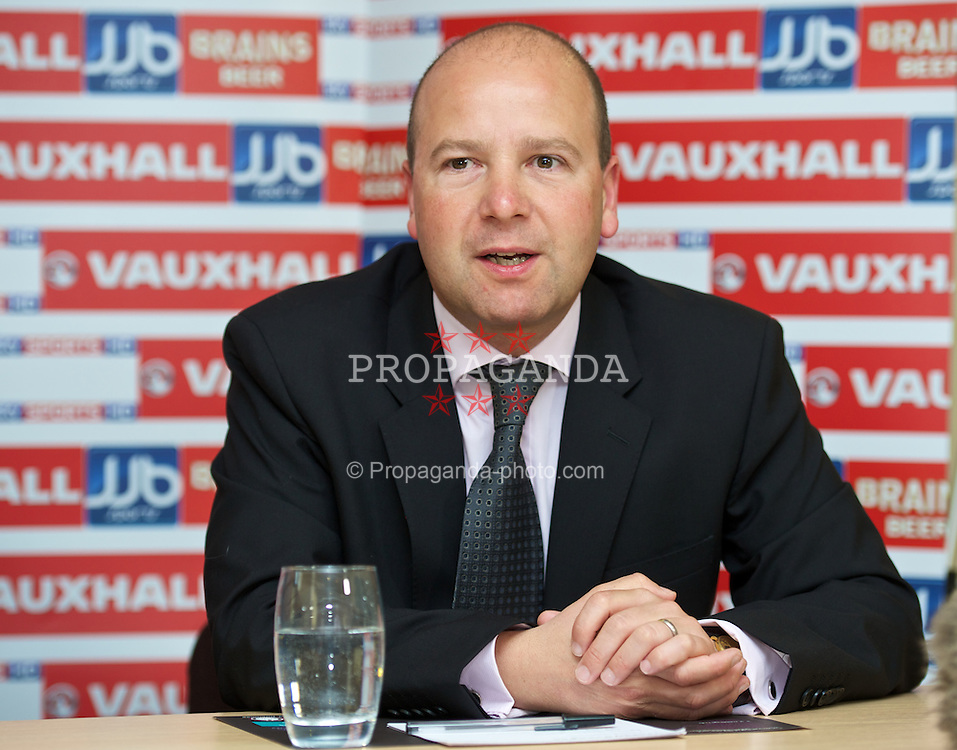 CARDIFF, WALES -.Tuesday, July 10, 2012: Wales Chief-Executive Jonathan Ford at the announcement of Geraint Williams as the new Indermediate Team Manager during a press conference at the Village Hotel. (Pic by David Rawcliffe/Propaganda)