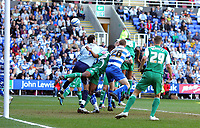 © Andrew Fosker / Richard Lane Photography 2010 -  Reading's Alex Pearce (26)  stoops to flick a header beyond Peterborough keeper Joe Lewis to put the home side 1 - 0 up Reading v Peterborough - Coca-Cola Championship - 17/04/2010 - Madejski Stadium - Reading - UK.