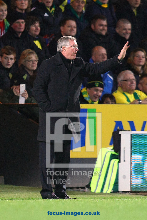 Picture by Paul Chesterton/Focus Images Ltd +44 7904 640267.17/11/2012.Man Utd Manager Alex Ferguson during the Barclays Premier League match at Carrow Road, Norwich.