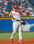 Phillies third baseman Greg Hobbs during the game between the Atlanta Braves and the Philadelphia Phillies at Turner Field in Atlanta, GA on May 25, 2007..