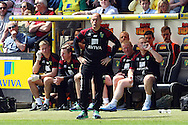 Norwich Manager Alex Neil during the Barclays Premier League match at Carrow Road, Norwich<br /> Picture by Paul Chesterton/Focus Images Ltd +44 7904 640267<br /> 07/05/2016