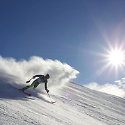 Cameron Rahles-Rahbula, Australia, in action during the Men's Giant Slalom Standing, Adaptive competition at Coronet Peak, during the Winter Games. Queenstown, New Zealand, 23rd August 2011. Photo Tim Clayton..