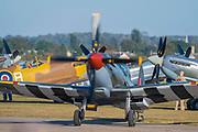 16 Supermarine Spitfires make a flypast finale - Duxford Battle of Britain Air Show at the Imperial War Museum. Also commemorating the 50th anniversary of the 1969 Battle of Britain film. It runs on Saturday 21 & Sunday 22 September 2019