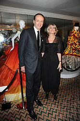 Philippe Leboeuf and Severine Pouget (Check!!!) at the launch of the Claridge's Christmas Tree designed by John Galliano for Dior held at Claridge's, Brook Street, London on 1st December 2009.