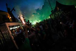 Celebration of NK Olimpija Ljubljana after they won Prva Liga competition, Kongresni trg, Ljubljana, Slovenia. Photo by Grega Valancic / Sportida