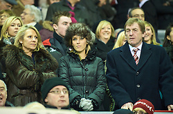 "LIVERPOOL, ENGLAND - Saturday, December 26, 2009: Liverpool legend ""King"" Kenny Dalglish, with wife Marina (L) and daughter Lynsey (C) before the Premiership match against Wolverhampton Wanderers at Anfield. (Photo by: David Rawcliffe/Propaganda)"
