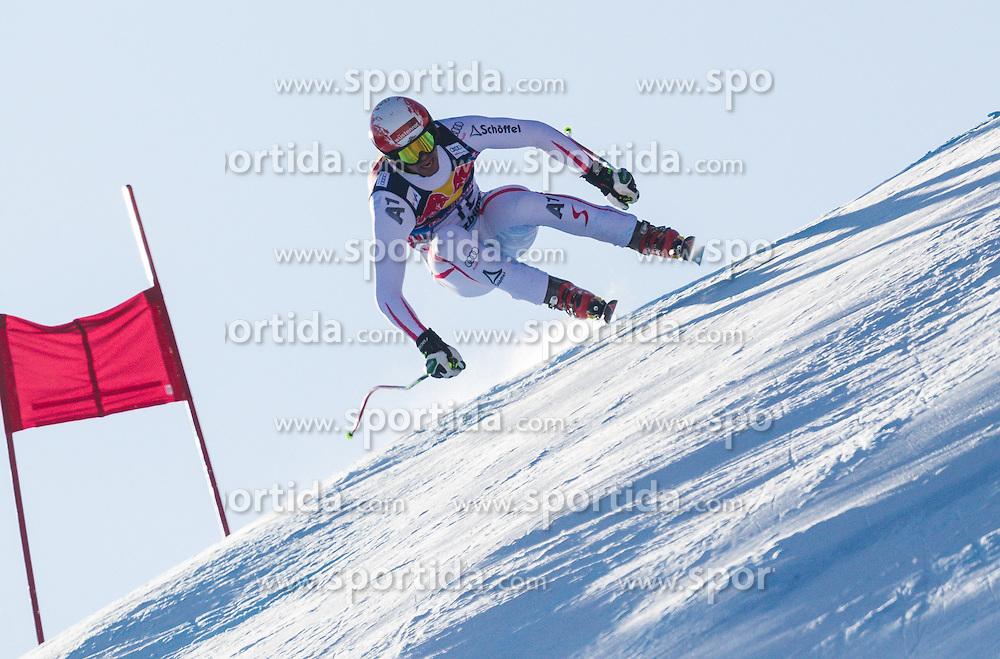 26.01.2013, Streif, Kitzbuehel, AUT, FIS Weltcup Ski Alpin, Abfahrt, Herren, im Bild  Joachim Puchner (AUT) // Joachim Puchner of Austria in action during mens Downhill of the FIS Ski Alpine World Cup at the Streif course, Kitzbuehel, Austria on 2013/01/26. EXPA Pictures © 2013, PhotoCredit: EXPA/ Juergen Feichter