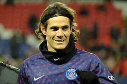 January 27, 2019 - Paris, Ile de France, France - Paris Saint Germain Striker EDINSON CAVANI in action during the French championship League 1 Conforama match Paris Saint Germain against Rennes at the Parc des Princes Stadium in Paris - France..Paris SG won 4-1 (Credit Image: © Pierre Stevenin/ZUMA Wire)