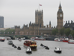 The Royal Barge the Spirit of Chartwell during  Thames Diamond Jubilee Pageant in London, Sunday 3rd  June 2012.  Photo by: Stephen Lock / i-Images
