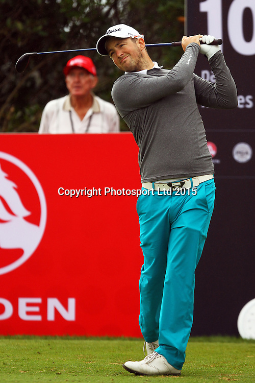 Kristopher Mueck during the Holden NZPGA Championship at Remuera Golf Course in Auckland, New Zealand. Friday 6 March 2015. Copyright photo: William Booth / www.Photosport.co.nz